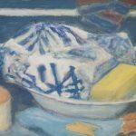 Bodegón azul Felipe López Arrieta Técnica: Pintura mixta de acrílico y pastel. Tamaño: 33×41 cm Precio: 30 €Sobre papel Canson