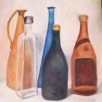 Cristina Martin Cinto  2019 Titulo: Bodegón 1  Técnica: pintura oleo Soporte: papel de oleo Tamaño: 40x42cm Precio: 100€