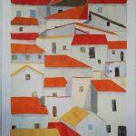 Casas Paz Cañada  Técnica: Acrílico sobre papel Tamaño: 29,7x42