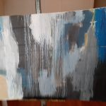 La Cascada de S. Troyano Técnica: acrílico sobre cartón Tamaño: 14x32 cm Precio: 15€