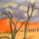 Desierto Sole Colomo Técnica: acrílico Tamaño: 31x24 cm