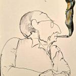 El retrato de mi bisabuelo Emilia Fernández de Navarrete Tamaño: 21,39x42, Técnica: collage y tinta, trazo ciego sobre papel Precio:35€