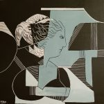 Elena Teresa Izquierdo Técnica: Mixta, acrílico, collage, sobre tabla Medidas: 30x30x3cm  Precio: 75€