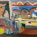 Estudio de pintura Inés Evangelio Técnica: acrílico Tamaño: 50x70 cm