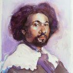 Estudio sobre el Juan de Pareja  Aleks Stepien Técnica: Acuarela sobre papel Tamaño: 28x18 cm. Precio: 100 €