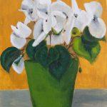 Flores Patricia Guerrero  Tamaño: 34 x 27 cm Técnica: Acrílico sobre tela en cartón