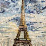 Mágico París Christine Lebriez  Técnica: óleo + maseta en relieve  Tamaño 100 x 81