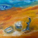 Nacimiento en el Desierto Rosa Laviña Técnica: Acrílico sobre madera Medida:23x17 cm Precio: 30€