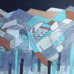 Paisaje Musical Montse Bosch  Medidas: Lienzo de 33 x 41 cm Técnica: Acrílico, collage  Precio: 60€