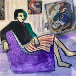Peggy Sole Colomo Técnica: acrílico y collage Precio: 28 x21 cm Precio:50€