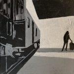Viaje  Técnica: Acrílico lienzo Tamaño: 25x25cm Precio: 60€